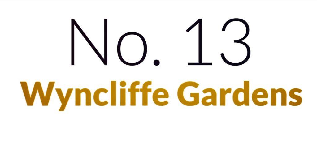 No 13. Wyncliffe Gardens